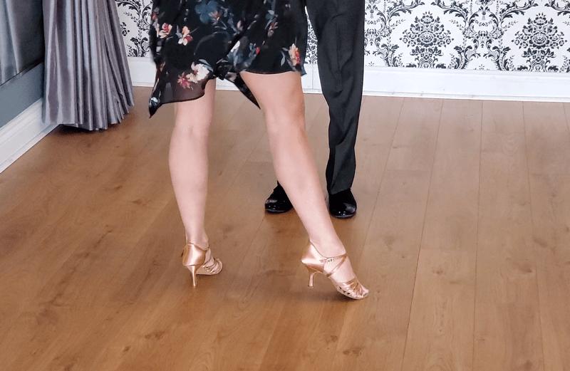 Couple Dancing Swing Footwork